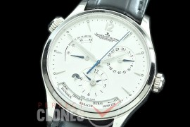 0 0 JLMRDT-001 ZF Master Reserve Duo Time SS/LE White Asian Modified Movt