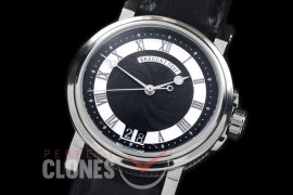 0 BR18102 Big Date Marine Automatic SS/LE Black Customized Perpetual Big Date Movt