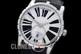0 0 0 RDCAL-101 Excalibur 42 Automatic SS/LE White Roman Customize RD830