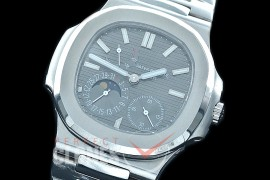PP-5712-102S PF Nautilus 5712 Date/Moon Phase Power Reserve SS/SS Grey Asian Customized Calibre 320