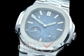 PP-5712-103S PF Nautilus 5712 Date/Moon Phase Power Reserve SS/SS Blue Asian Customized Calibre 320