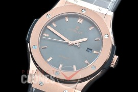 HBFS-45-0023 ANF Classic Fusion 45mm Automatic RG/LE Grey Asian Clone 2892