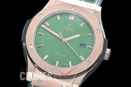 HBFS-45-0025 ANF Classic Fusion 45mm Automatic RG/LE Green Asian Clone 2892