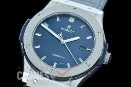 HBFS-45-0004 ANF/OXF Classic Fusion 45mm Automatic SS/LE Blue Asian Clone 2892