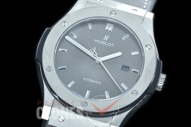HBFS-45-0003 ANF/OXF Classic Fusion 45mm Automatic SS/LE Grey Asian Clone 2892
