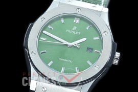 HBFS-45-0005 ANF/OXF Classic Fusion 45mm Automatic SS/LE Green Asian Clone 2892