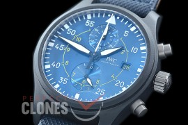 0 0 0 IWP00092 ZF Pilot Chronograph 389008 Blue Angels Special Edition CER/NY Blue A-7750