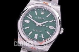 RLOY-41-024S GMF 904 Steel Osyter Perpetual 41mm 124300 SS/SS Green Sticks SA 3230