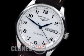0 LG00181 XF Master Daydate Automatic Date SS/LE White Numeral A-2824