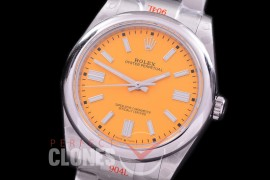 RLOY-41-026S GMF 904 Steel Osyter Perpetual 41mm 124300 SS/SS Yellow Sticks SA 3230