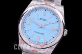 RLOY-41-027S GMF 904 Steel Osyter Perpetual 41mm 124300 SS/SS Ice Blue Sticks SA 3230