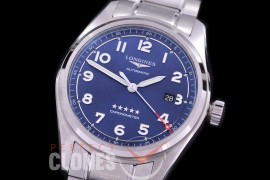 0 0 0 LG-SPW-103 CF Spirit Pilot's Watch Automatic SS/SS Blue Numerals Asian Clone 2892