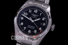 0 0 0 LG-SPW-102 CF Spirit Pilot's Watch Automatic SS/SS Black Numerals Asian Clone 2892