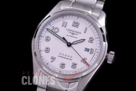 0 0 0 LG-SPW-101 CF Spirit Pilot's Watch Automatic SS/SS White Numerals Asian Clone 2892