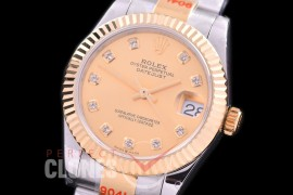 R31DJT-165 GMF 904 Steel Datejust Midsize 278383 SS/YG Fluted/Oyster Gold Diamonds Asian Clone 2824