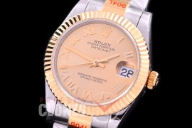 R31DJT-175 GMF 904 Steel Datejust Midsize 278273 SS/YG Fluted/Oyster Gold Roman Asian Clone 2824
