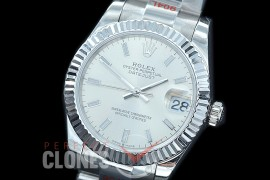 R31DJS-150 GMF 904 Steel Datejust Midsize 278274 SS/SS Fluted/Oyster Silver Sticks Asian Clone 2824