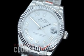 R31DJS-171 GMF 904 Steel Datejust Midsize 278274 SS/SS Fluted/Oyster White Roman Asian Clone 2824