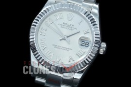 R31DJS-170 GMF 904 Steel Datejust Midsize 278274 SS/SS Fluted/Oyster Silver Roman Asian Clone 2824
