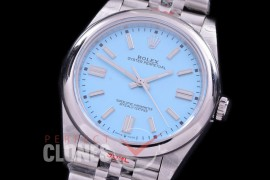 RLOY-41-037S GMF 904 Steel Osyter Perpetual 41mm 124300 SS/SS Ice Blue Sticks SA 3230