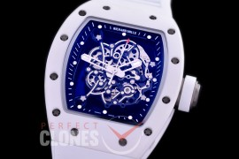 0 0 0 0 RM055-01-021 ZF RM055 Bubba Watson White Ceramic Limited Edition CER/RU Skeleton M8215 Mod