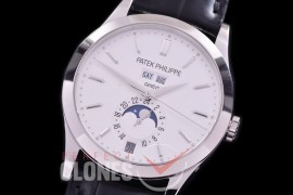 PP-5396-101L ARF Complications 5396 Annual Calender SS/LE White Miyota 9100 Mod to Calibre 324