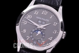 PP-5396-107L ARF Complications 5396 Annual Calender SS/LE Grey Miyota 9100 Mod to Calibre 324