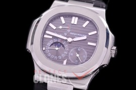 PP-5712-102 PF Nautilus 5712 Date/Moon Phase Power Reserve SS/LE Grey Asian Customized Calibre 320