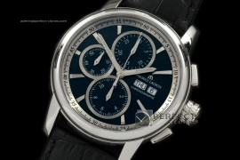 ML10032 Pontos Chronograph Day/Date SS/LE Blk A-77528800