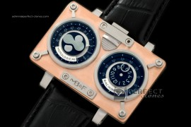 MBF10011 HM2 SS/RG/LE TT Black Duo Dial Asia 21J Modified Movt