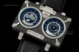 MBF10013 HM2 SS/PVD/LE TT Black Duo Dial Asia 21J Modified Movt