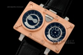 MBF10012 HM2 SS/RG/LE TT Black Duo Dial Asia 21J Modified Movt
