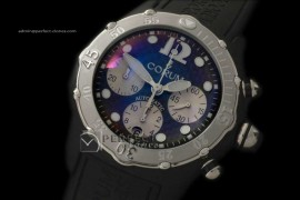 CO01001 Bubble Chrongraph Limited Ed SS/RU Blk Asia 7750