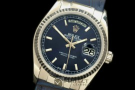 RLDDS60106L DayDate Fluted Midnight Blue SS/LE Asian 2813