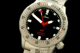 SI01110S U1 Automatic SS/SS Black Asian 2813 Free Shipping
