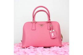 PR0837-06 BN0837 Saffiano Solid Color Leather Tote Pink