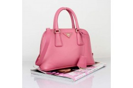 PR0838-04 BN0838 Saffiano Solid Color Leather Tote Pink
