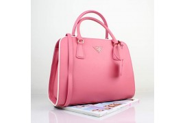 PR2609-03 BN2609 Saffiano Solid Color Leather Tote Pink