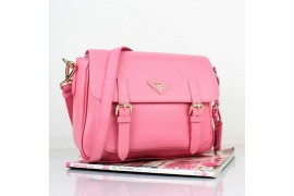 PR8228-04 BN8228 Saffiano Solid Color Leather Tote Pink