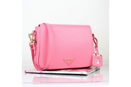 PR8229-04 BN8229 Saffiano Solid Color Leather Tote Pink