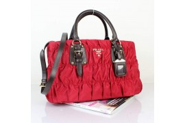 PR9756-14 BN9756 37cm Gaufre Fabric Tote Red