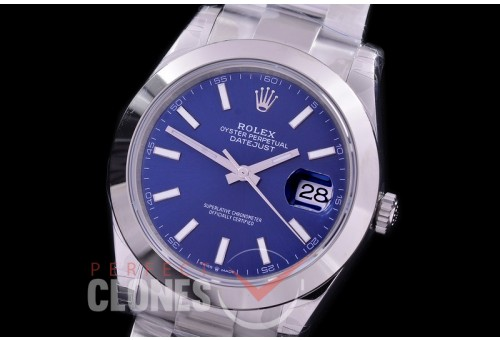 R41DJS-3235-004S XF/VSF 126334 904 Steel SS/SS Smooth/Oyster Blue Sticks VS 3235 - 72 Hours Power Reserve