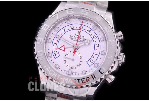 0 0 0 RYM2-901 GMF 904 Steel Yachtmaster II 116689 SS/SS White A-7750/Mod to Calibre 4161