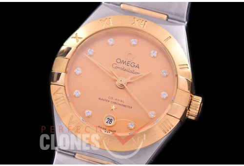 0 OMCON-29-133 Constellation Automatic Date 29mm SS/YG Gold Dial Eta 2688 Mod to Calibre 8700