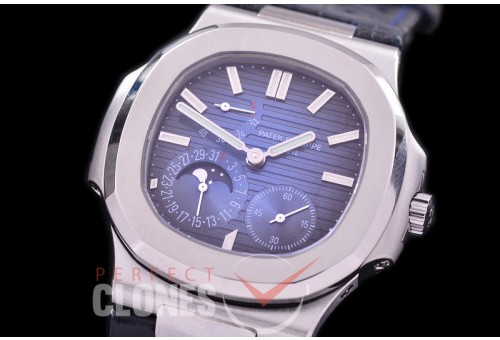 PP-5712-103 PF Nautilus 5712 Date/Moon Phase Power Reserve SS/LE Blue Asian Customized Calibre 320