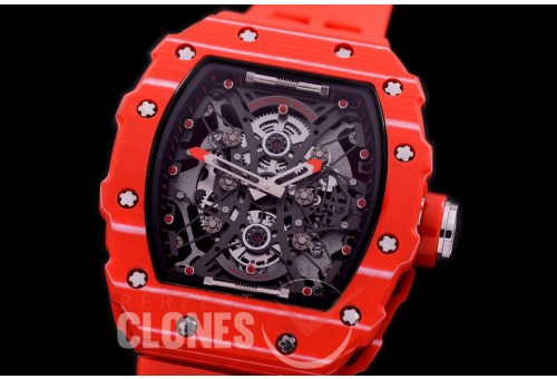 RM053-01-021 ANF/OXF RM 053-01 Pablo Mac Donough Limited Ed Red-PT/RU Skeleton Customized Movt