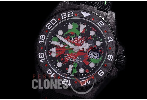 RLGFC-121 JHF DIW NTPT GMT 116710 Special Edition FC/NY Black/Paint Splatter CF SA 3186 CHS